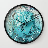 Subsea floral Wall Clock