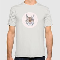 Lynx Lynx portrait Mens Fitted Tee Silver SMALL