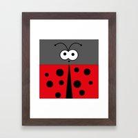 Minimal Ladybird Framed Art Print