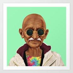 Hipstory -  Mahatma Gand… Art Print