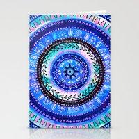 Mandala 2 {blue} Stationery Cards