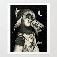 Bearded Fowl with Ambiguous Intentions Art Print