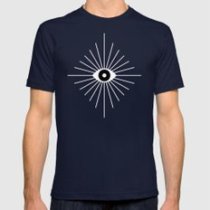 KALEIDOSCOPE EYES Mens Fitted Tee Navy SMALL
