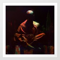 City meditation Art Print
