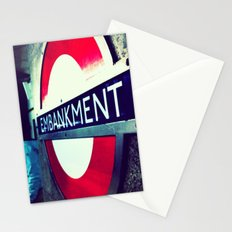 TUBE SIGNS-Embankment Stationery Cards