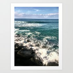 BLUE SEAS Art Print