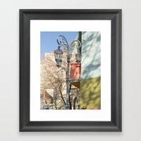 Street Lights Of La Boca… Framed Art Print