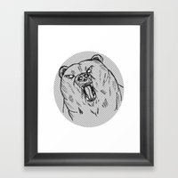 Burr Framed Art Print