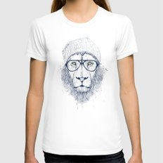 Cool lion Womens Fitted Tee White MEDIUM