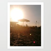 the dying sun  Art Print
