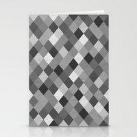 Black And White Harlequi… Stationery Cards