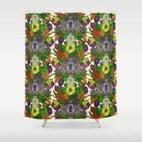 groundhog garden Shower Curtain