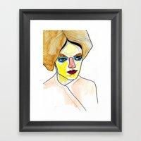 orange hair Framed Art Print