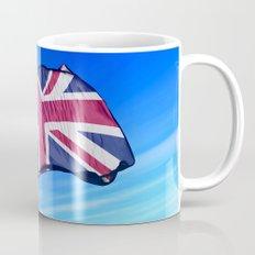 The British flag waving on the wind Mug