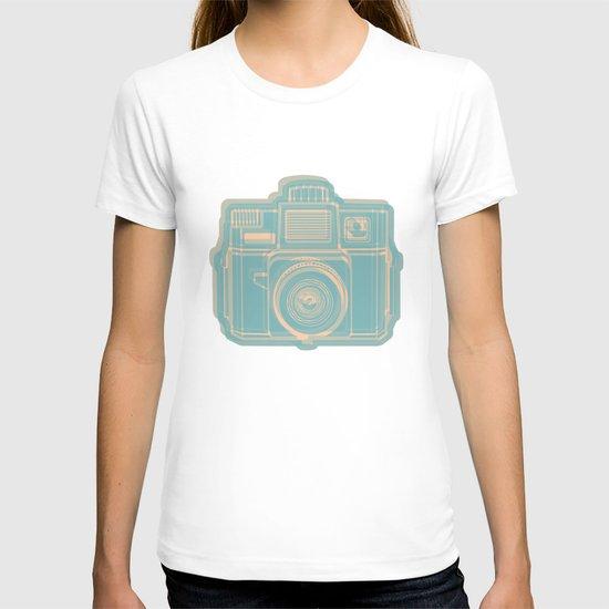I Still Shoot Film Holga Logo - Reversed Turquoise/Tan T-shirt