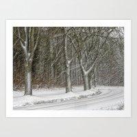 Snow Storm Art Print