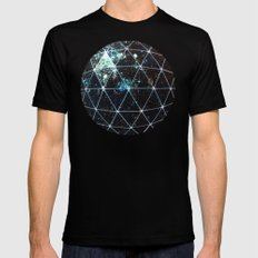 Galaxy Geodesic  Mens Fitted Tee Black SMALL