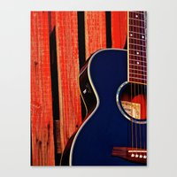 6 Strings And A Barn Canvas Print