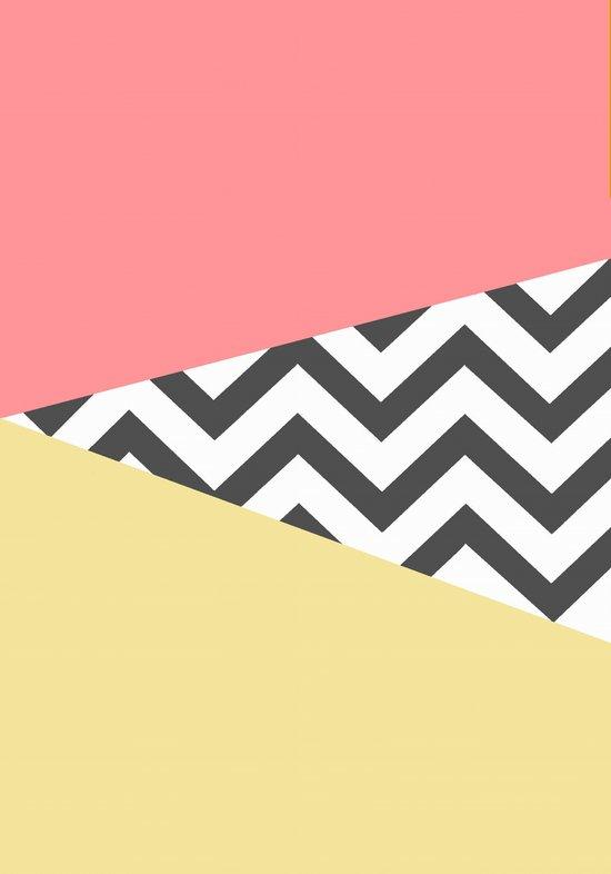 Color Blocked Chevron 2 Art Print