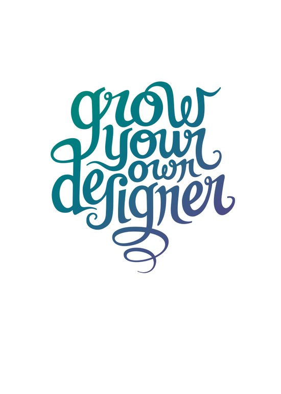 Grow Your Own Designer Canvas Print