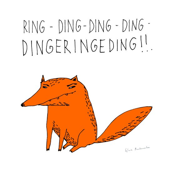 What does the fox say??? Art Print