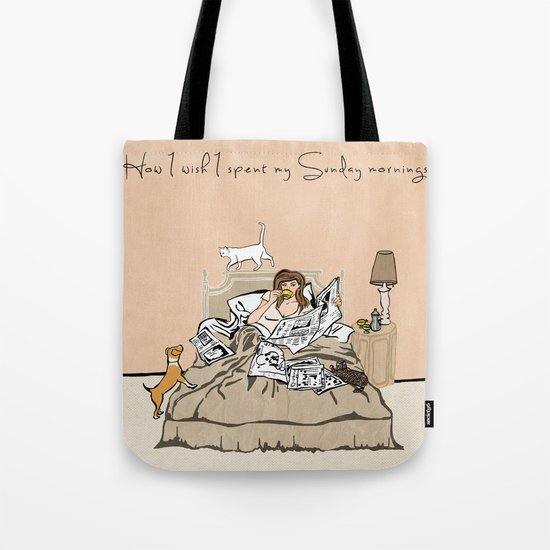 Sunday Mornings Tote Bag