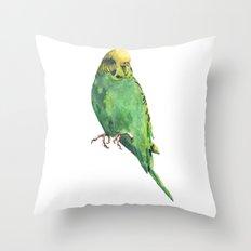 Budgie, parakeet, budgerigar, whos a pretty boy then, bird art Throw Pillow