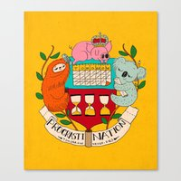 procrasti nation Canvas Print