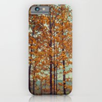 iPhone & iPod Case featuring Autumn Atmosphere by V. Sanderson / Chickens in the Trees