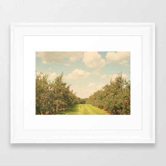 Allée de Pommes Framed Art Print