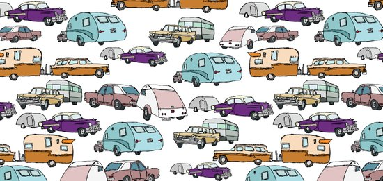 Cars and Campers Art Print