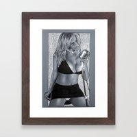 Girl 4 singer Framed Art Print