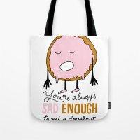 Sad Doughnut Tote Bag