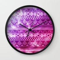 Tribal Fuschia.  Wall Clock
