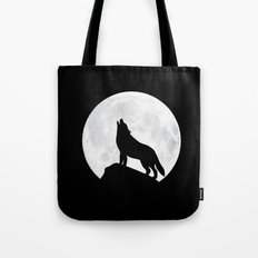 Howling Wolf - Moon Tote Bag