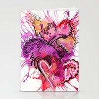 Six Valentines Stationery Cards
