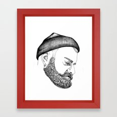 CAP & BEARD Framed Art Print
