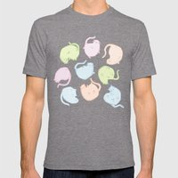 Cat Blobs Cats Mens Fitted Tee Tri-Grey SMALL