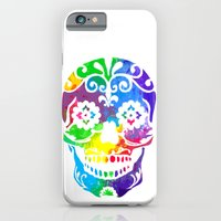 sugar skull iPhone & iPod Cases featuring Sugar Skull by Diana Arend