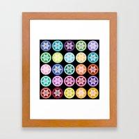 Colorful Snowflake Print: Black Framed Art Print