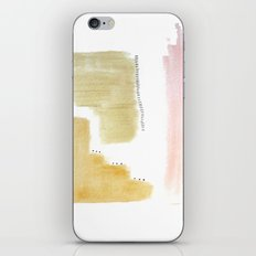 Muted Abstract 4 - acrylic and ink in pinks and browns iPhone & iPod Skin