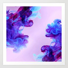Ink Drops Art Print