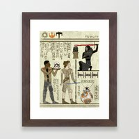Hero-glyphics: Awakening Framed Art Print