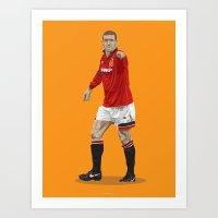 Eric Cantona - Manchester United Art Print