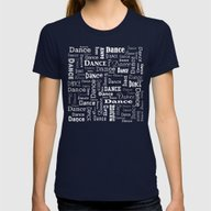 Just Dance! Womens Fitted Tee Navy SMALL