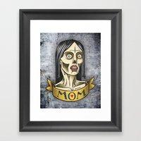'Mom' Zombie Tattoo Prin… Framed Art Print
