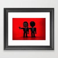 Toy Pulp Fiction Framed Art Print