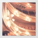 Pink Theater Lights  Canvas Print