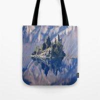 Ghost Ship, Creepy Crater Lake Tote Bag