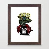 Annunaki Reptilian Reina  Framed Art Print